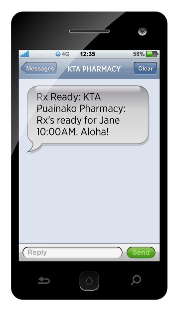 KTA Superstores Pharmacy Text Notification