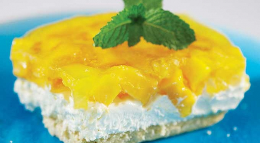 End of Summer Mango Cheesecake