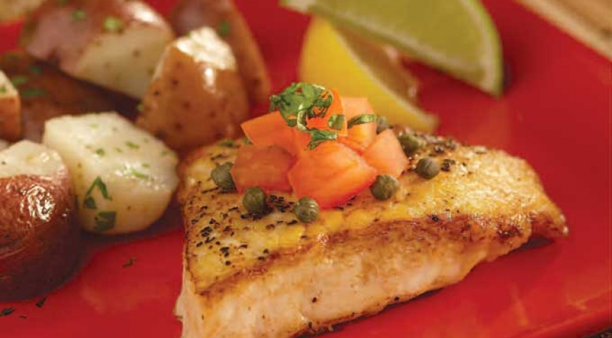 Sautéed Halibut with Lime & Capers
