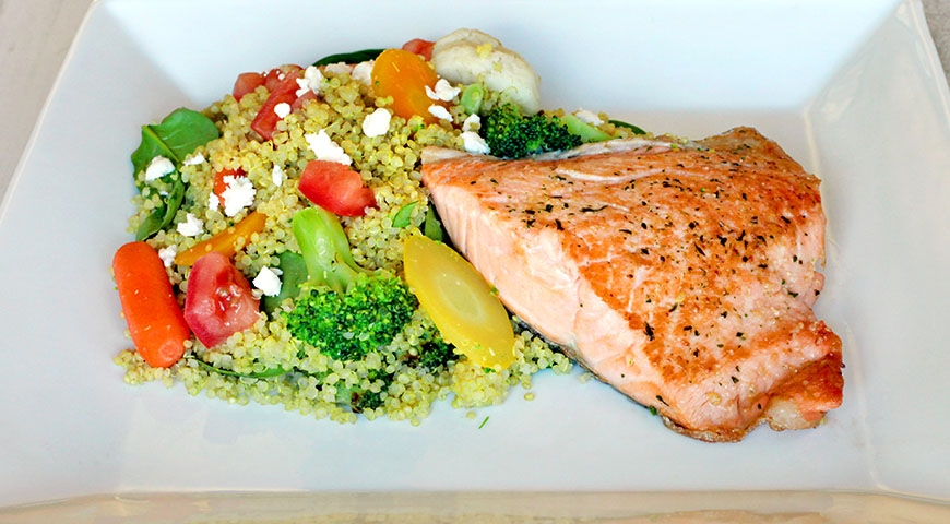 Seared Salmon with Quinoa