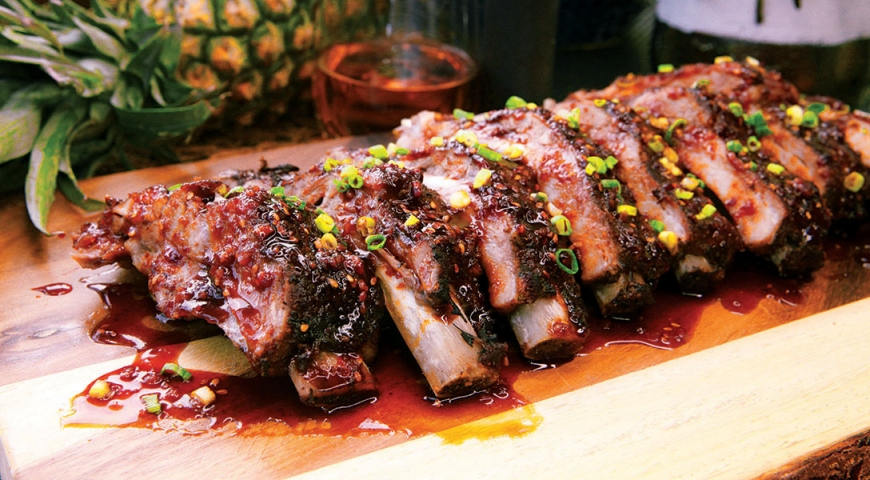Pineapple Grilled Baby Back Ribs