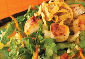 Image of Asian Style Sesame Salad with Scallops