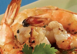 Chive Infused Shrimp with Chile-Lemongrass Dipping Sauce