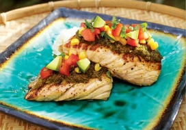Herb Crusted Snapper with Fresh Avocado Salsa