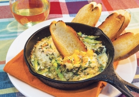 Baked Egg Skillet with Leeks and Asparagus