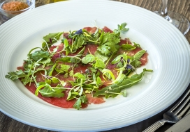 Ahi Carpaccio with Citrus Vinaigrette & Fresh Herbs