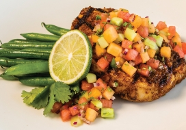 Tex-Mex Grilled Pork Chops with Three-Melon Salsa