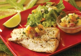 Mahimahi with Pineapple Cilantro Chutney