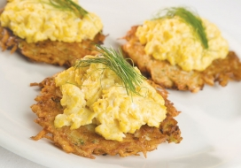 Potato Pancakes & Creamy Scrambled Eggs