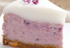 Purple Sweet Potato Cheesecake
