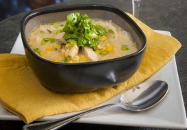 Southeast Asian Chicken & Corn Soup