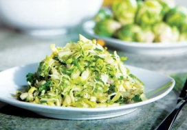 Brussels Sprouts, Apple and Mac Nut Salad
