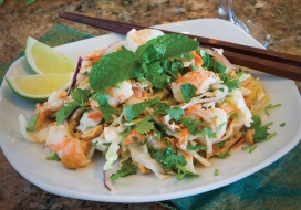 Shrimp Coleslaw with a Southeast Asian Twist