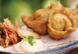 Spicy Kim Chee Aioli Won Tons