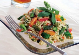 Vegetable Orzo Pasta Salad
