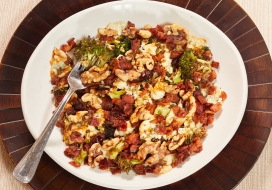 Image of Roasted Broccoli Salad with Blue Cheese & Bacon