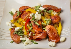 Image of Sausage & Peppers with Balsamic Reduction
