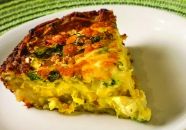 Image of Zucchini Quiche with Potato Crust