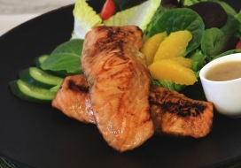 Ka'u Orange Teri Salmon Salad