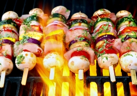 Image of Asian-Inspired Fresh Fish Skewers