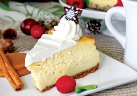 Image of Eggnog Cheesecake with Gingersnap Crust