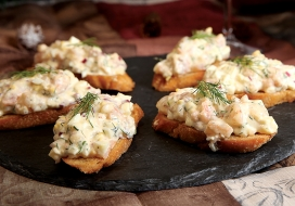 Image of Creamy Shrimp Salad Crostini
