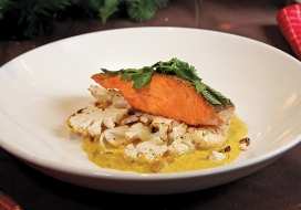 Image of Pan-Seared Salmon with Roasted Cauliflower