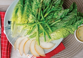 Asparagus & Korean Pear Salad with Citrus Vinaigrette