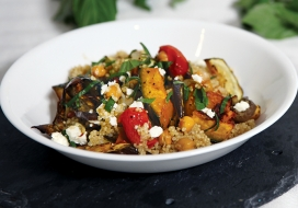 Hawaiian Style Ratatouille on Quinoa