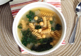 Image of Healthy Chickpea Miso Noodle Soup