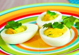 Image of Curry Deviled Eggs