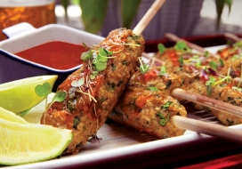 Thai Shrimp & Pork Skewers