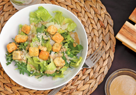 Image of Caesar Salad with Baby Kale, Romaine & Brussels Sprouts