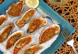 Image of Grilled Oysters with Asian Compound Butter