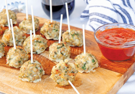 Image of Turkey Meatball Lollipops